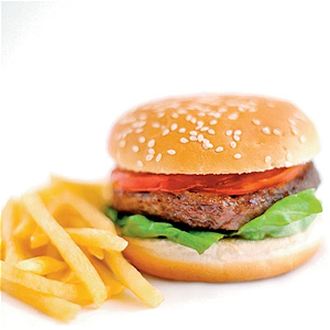 Foto Kindermenu hamburger